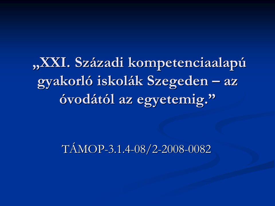 """""""XXI. Századi kompetenciaalapú gyakorló iskolák Szegeden – az óvodától az egyetemig. """"XXI."""