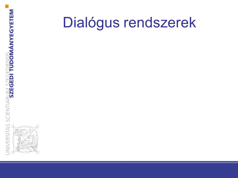Dialógus rendszerek