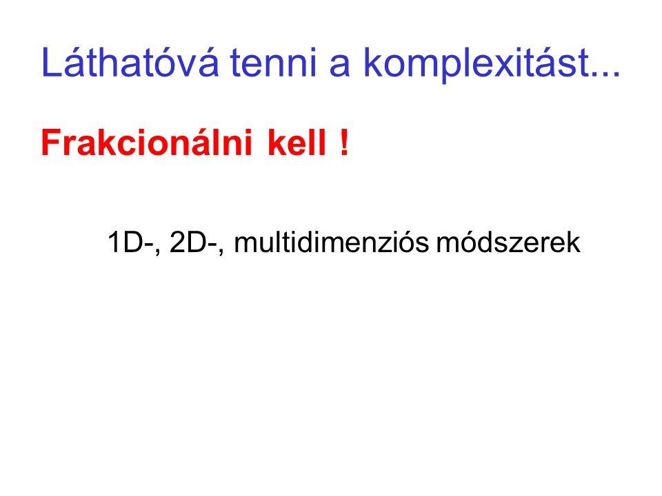 Láthatóvá tenni a komplexitást... Frakcionálni kell ! 1D-, 2D-, multidimenziós módszerek