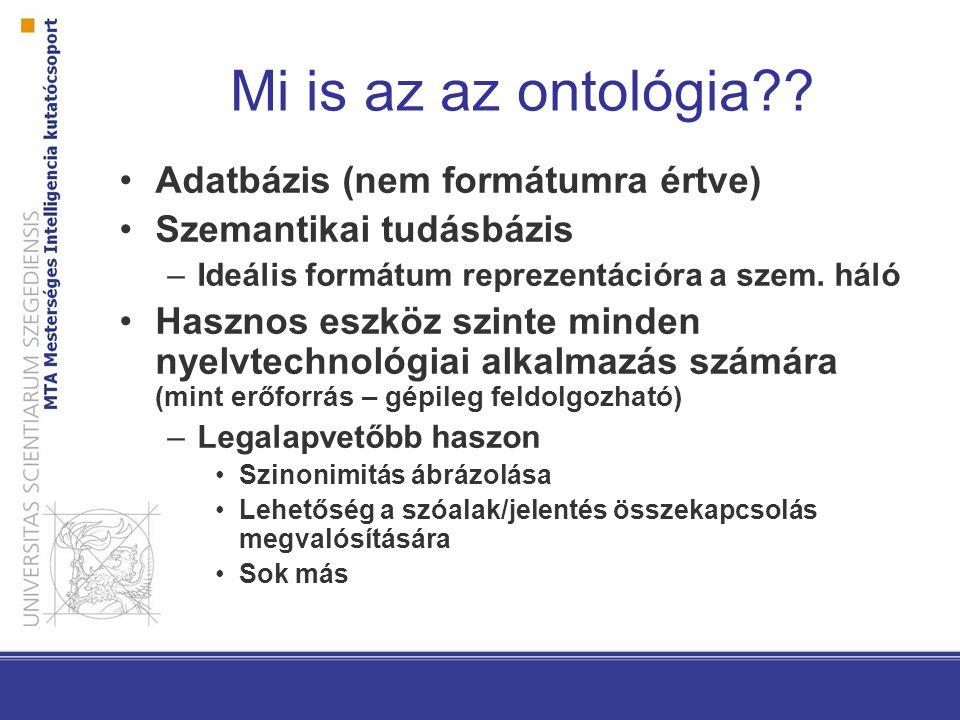 Mi is az az ontológia .