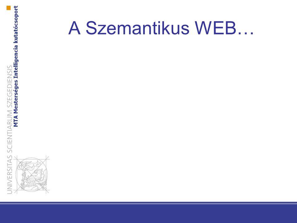A Szemantikus WEB…