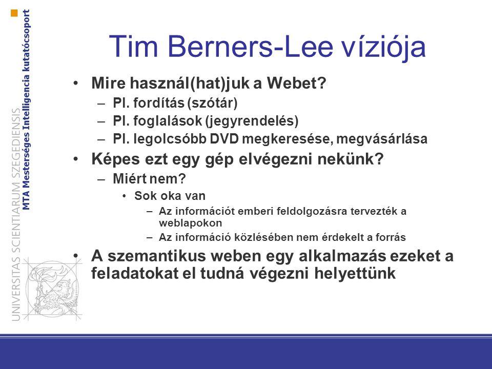 Tim Berners-Lee víziója Mire használ(hat)juk a Webet.