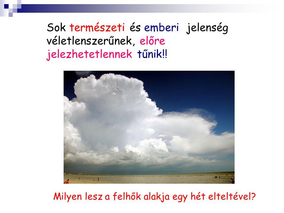Sok természeti és emberi jelenség véletlenszerűnek, előre jelezhetetlennek tűnik!! Milyen lesz a felhők alakja egy hét elteltével?