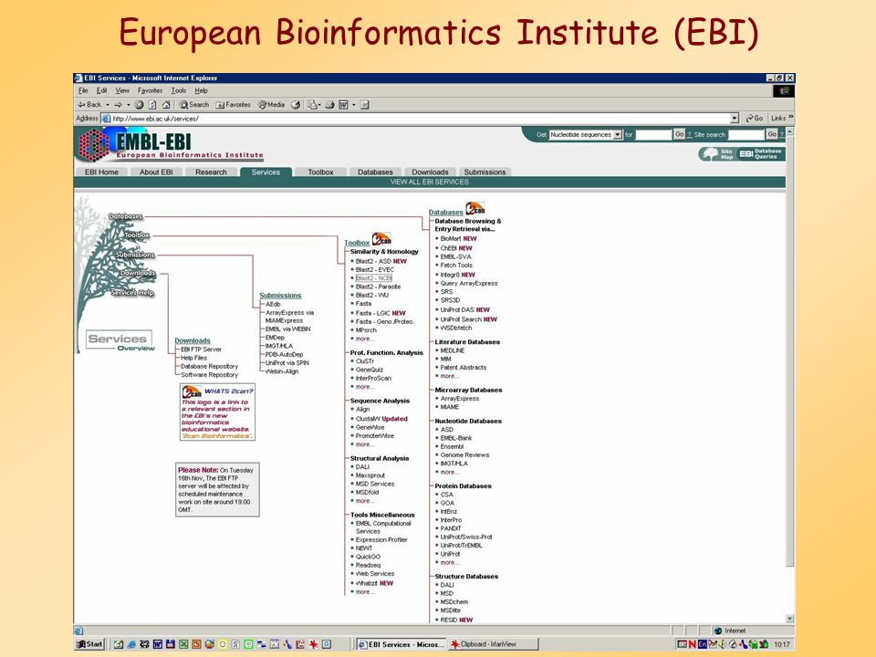 European Bioinformatics Institute (EBI)