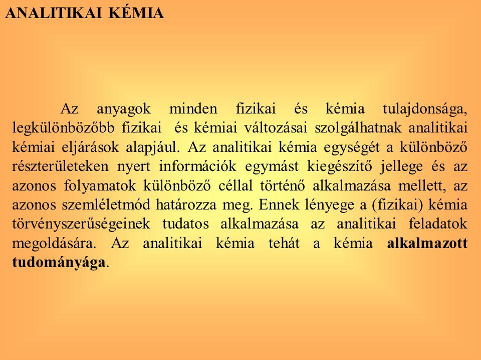 GYTK101-1 ANALITIKAI KÉMIA Tematika: I.