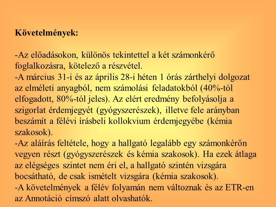 Sav - bázis titrálási görbék SAV-BÁZIS EGYENSÚLYOK KVANTITATÍV JELLEMZÉSE 3.