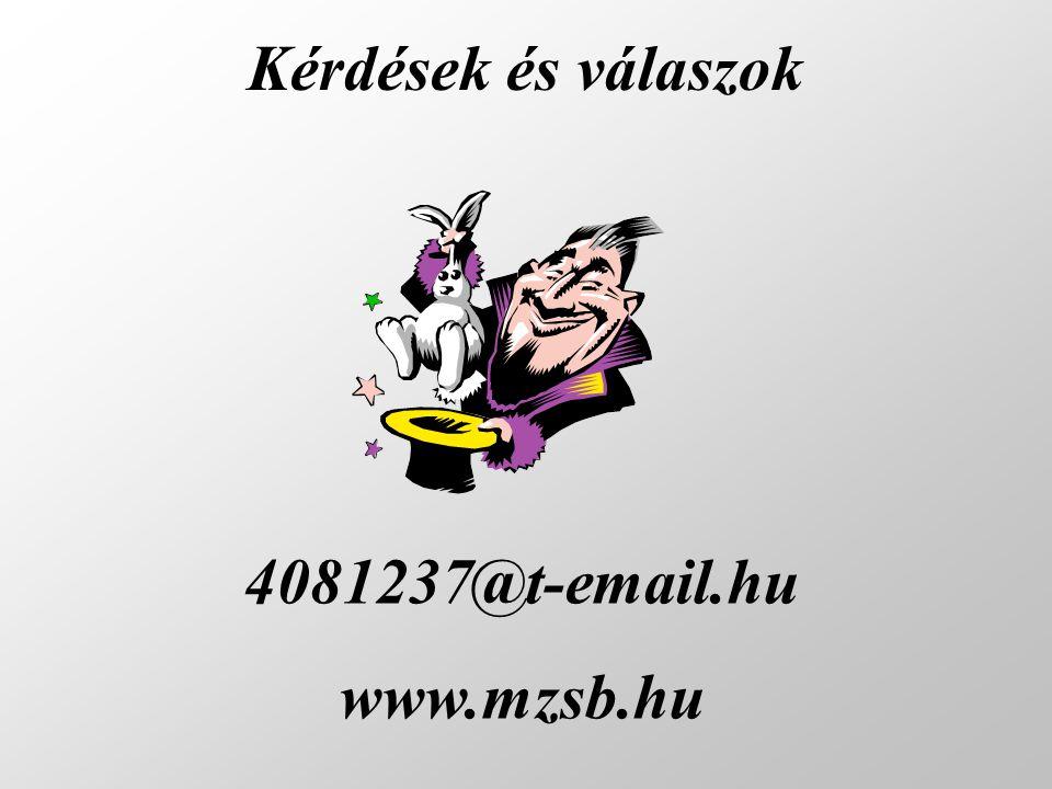 Kérdések és válaszok 4081237@t-email.hu www.mzsb.hu