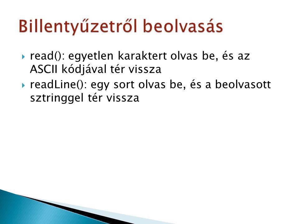  metóduson belüli belső osztály: public void csinalValamit(){ … private class Belso(){…} … }