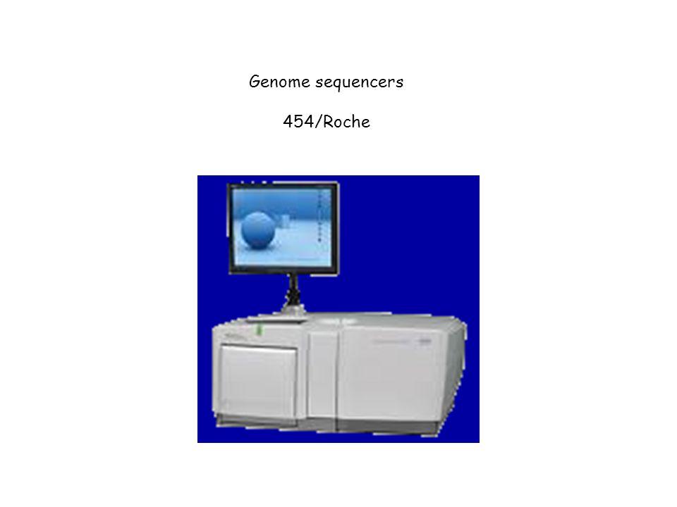 Genome sequencers 454/Roche