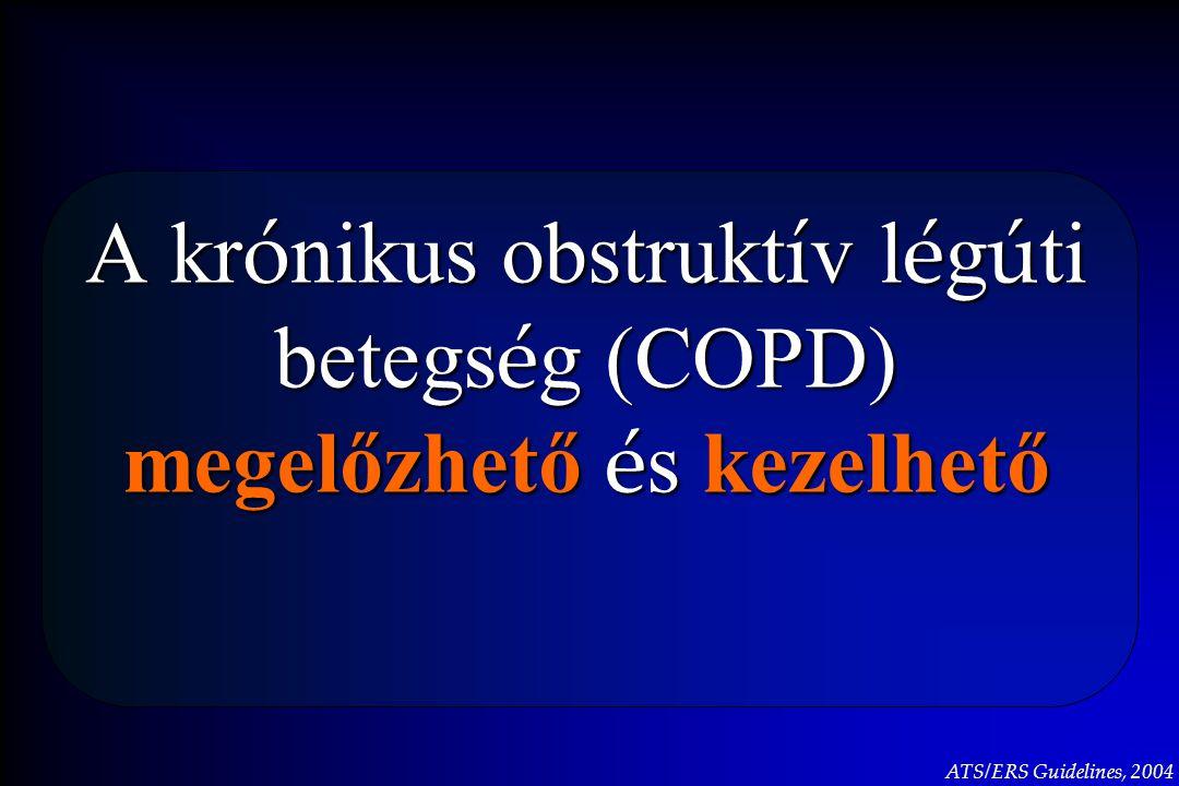 A kr ó nikus obstrukt í v l é g ú ti betegs é g (COPD) megelőzhető é s kezelhető ATS/ERS Guidelines, 2004