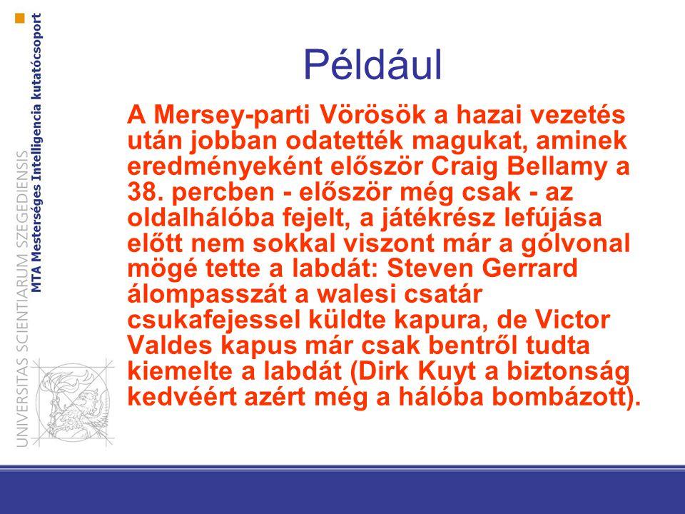 Például A Mersey-parti Vörösök a hazai vezetés után jobban odatették magukat, aminek eredményeként először Craig Bellamy a 38. percben - először még c
