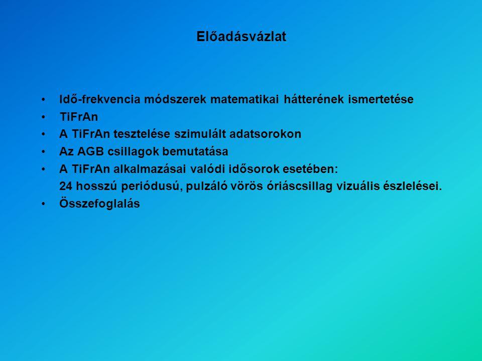 R Sct WAVL CWD ZAM RV Tauri típusú változók