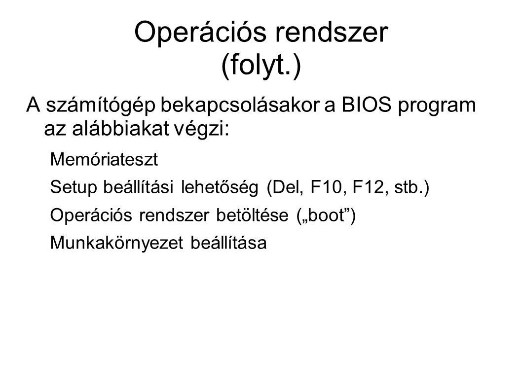 Multiprogramozás Taszk: memóriába került, futó program.