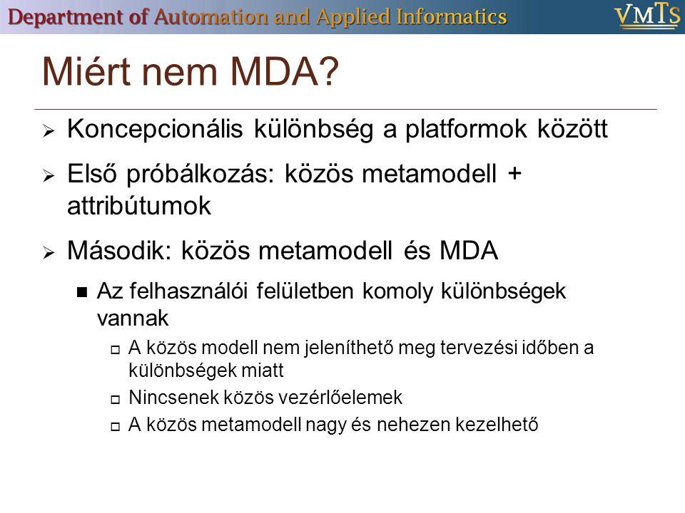 Miért nem MDA.