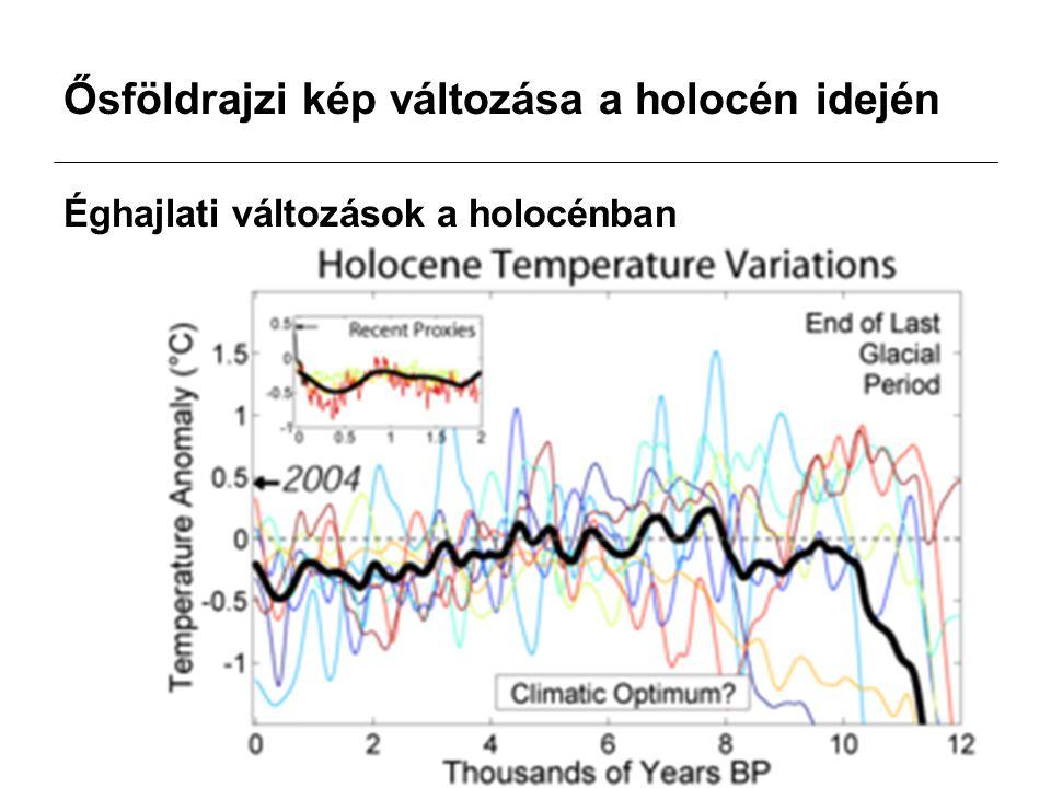 Ősföldrajzi kép változása a holocén idején Éghajlati változások a holocénban