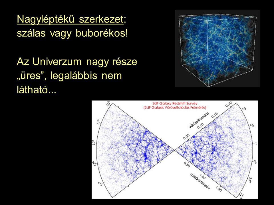 Nagyléptékű szerkezet: szálas vagy buborékos.