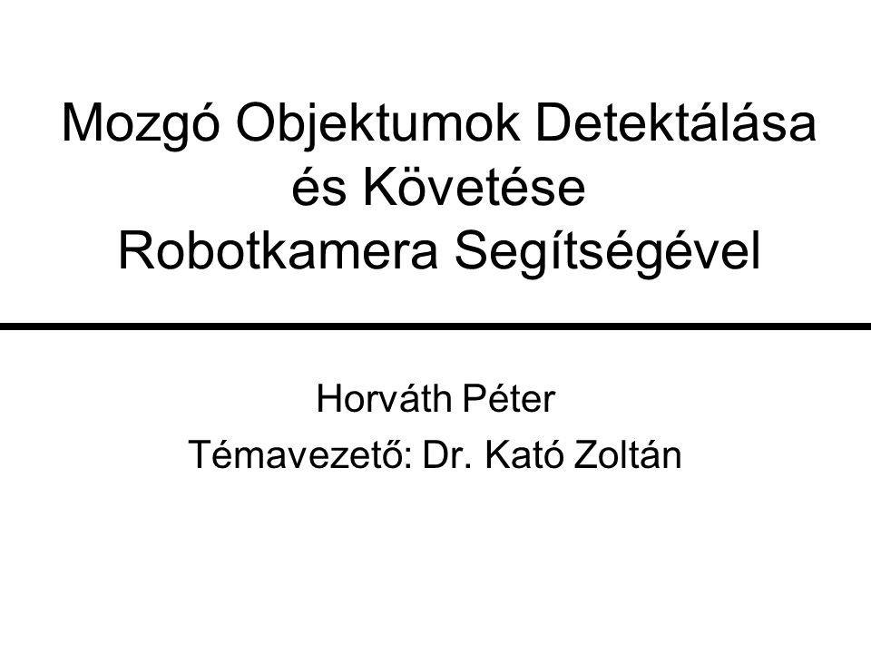 Mozgó Objektumok Detektálása és Követése Robotkamera Segítségével Horváth Péter Témavezető: Dr. Kató Zoltán