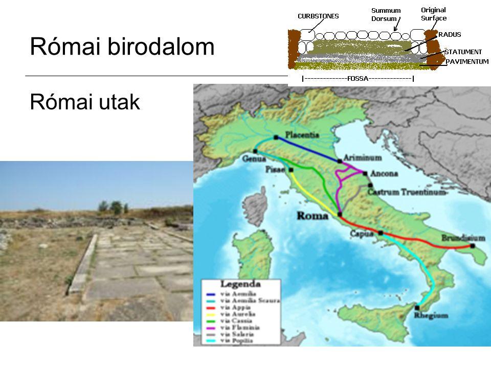 Római birodalom Római utak