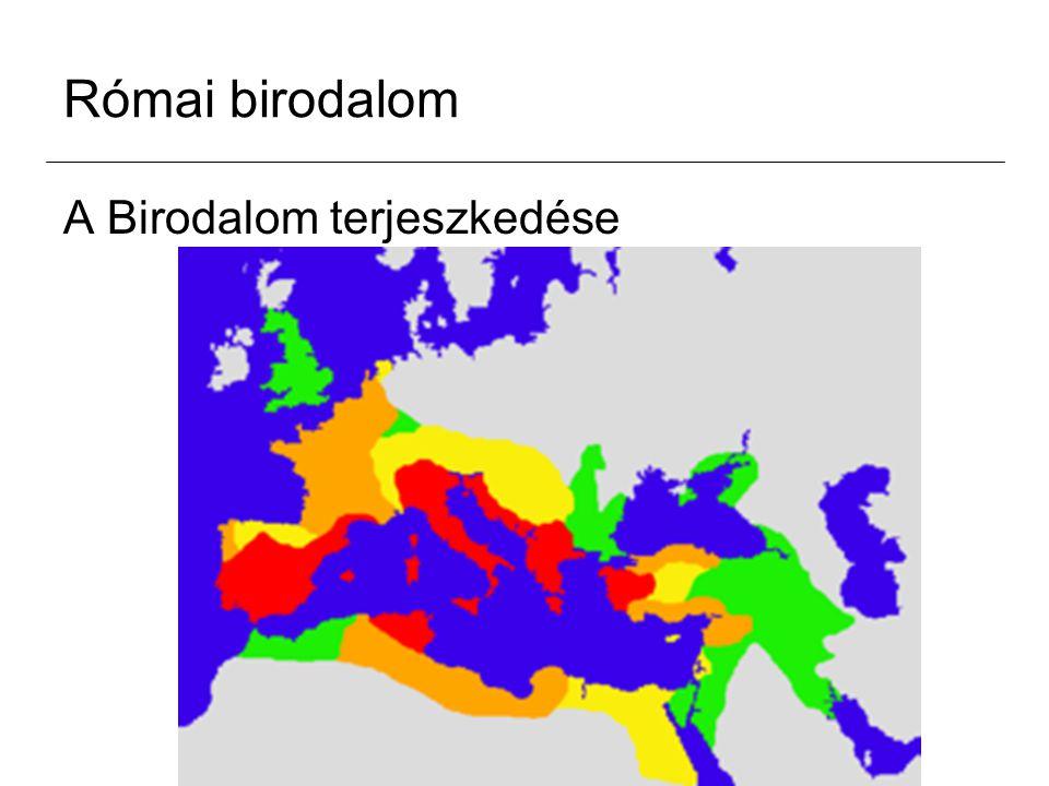 Római birodalom A népességszám és a terület változásai