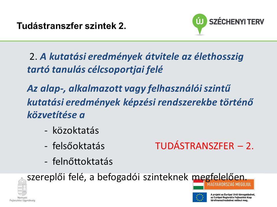 Tudástranszfer I.; II.