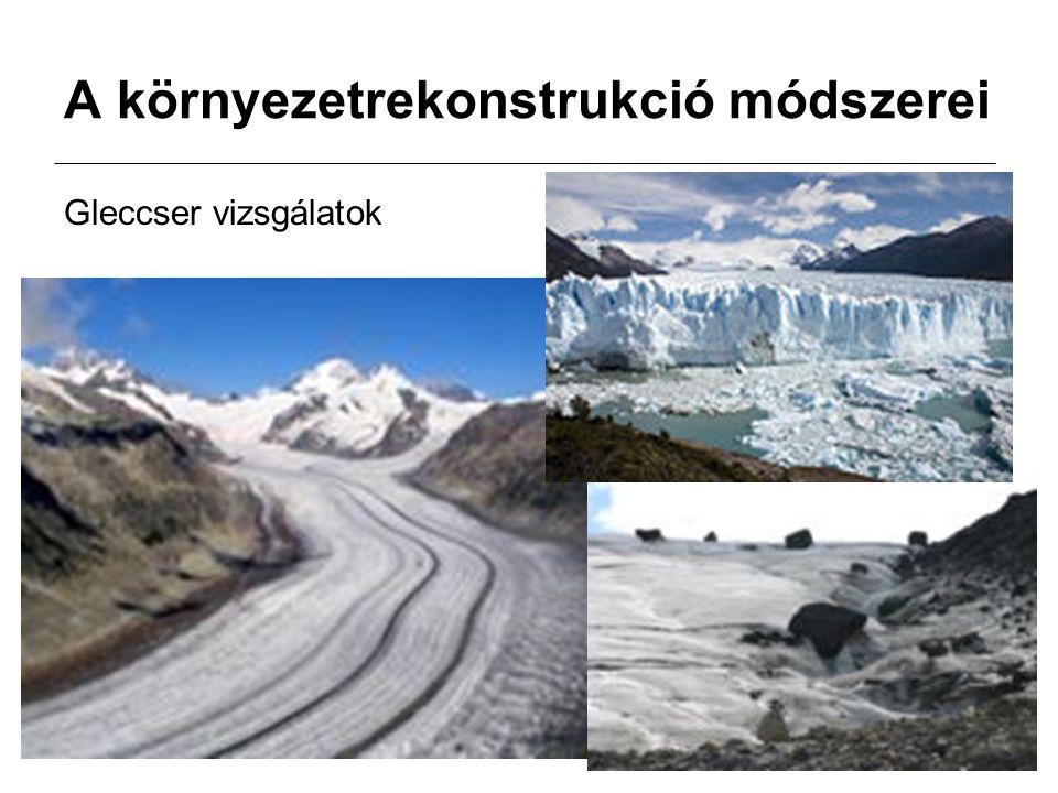A környezetrekonstrukció módszerei Gleccser vizsgálatok