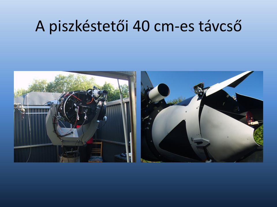 A mérésekről Kamera hűtése Korrekciós képek Bias Dark Flat Expozíciós idő és szűrő Fókusz