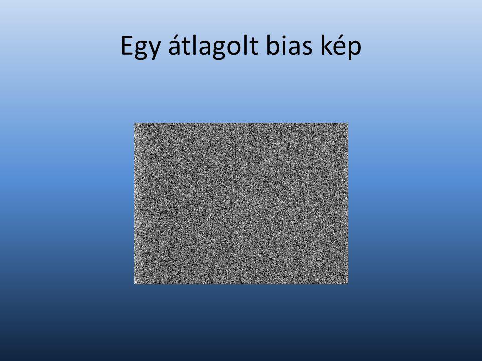 Egy átlagolt bias kép
