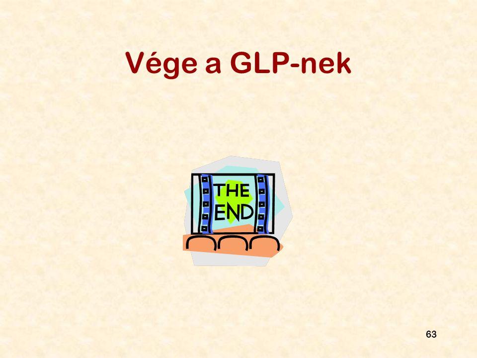63 Vége a GLP-nek