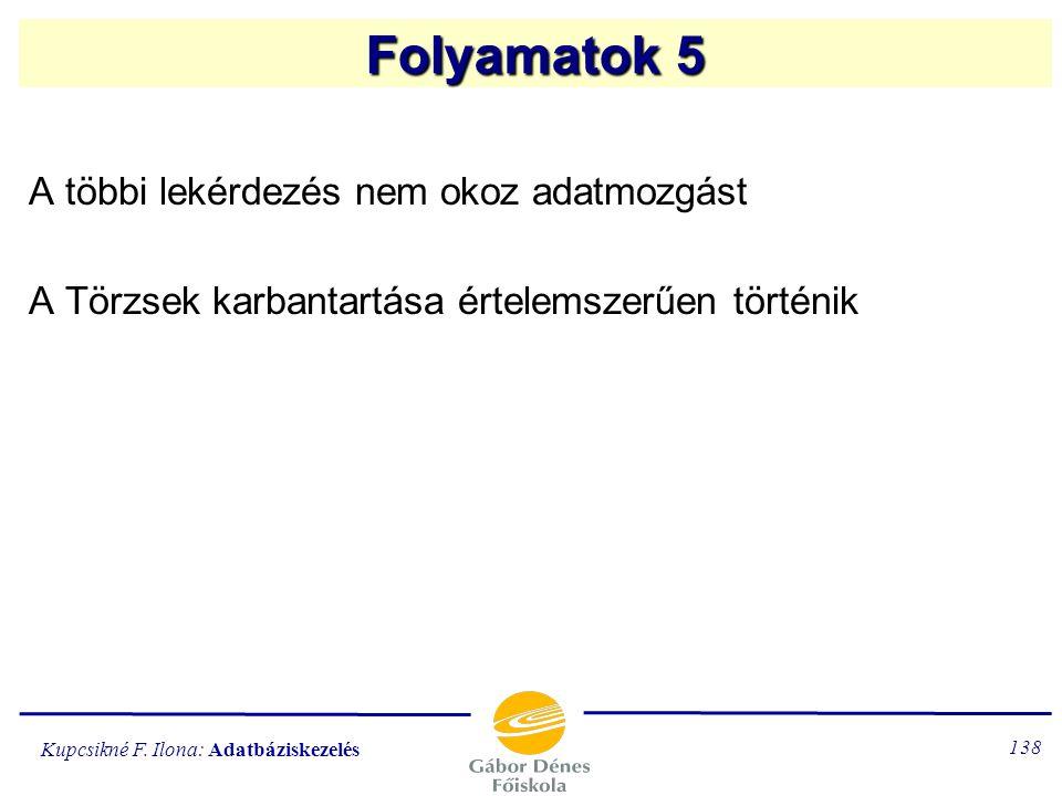 Kupcsikné F. Ilona: Adatbáziskezelés 137 KÖ L CS ÖN Z ÉS NINCSNINCS