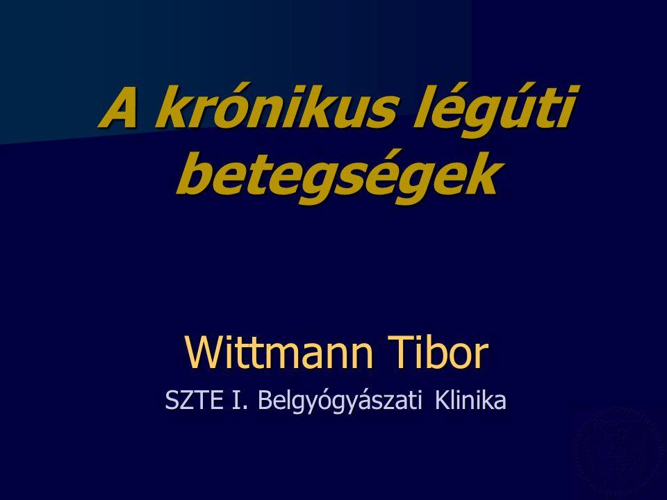 Wittmann Tibor SZTE I. Belgyógyászati Klinika A krónikus légúti betegségek