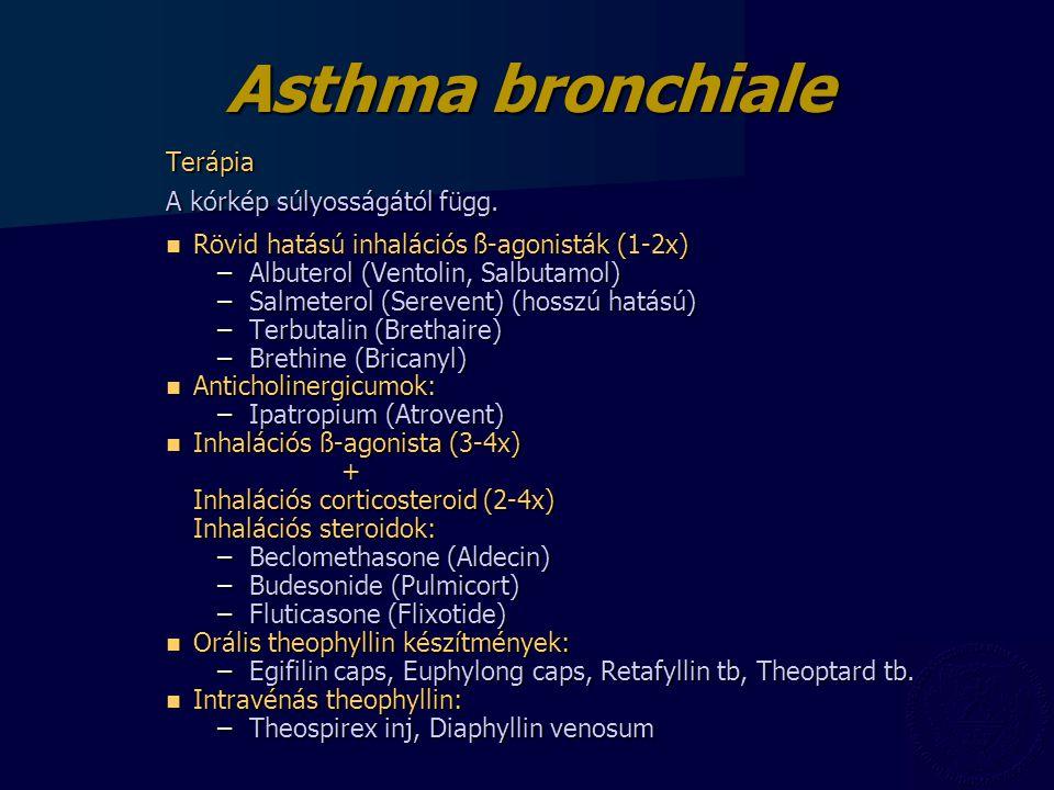 Terápia A kórkép súlyosságától függ.