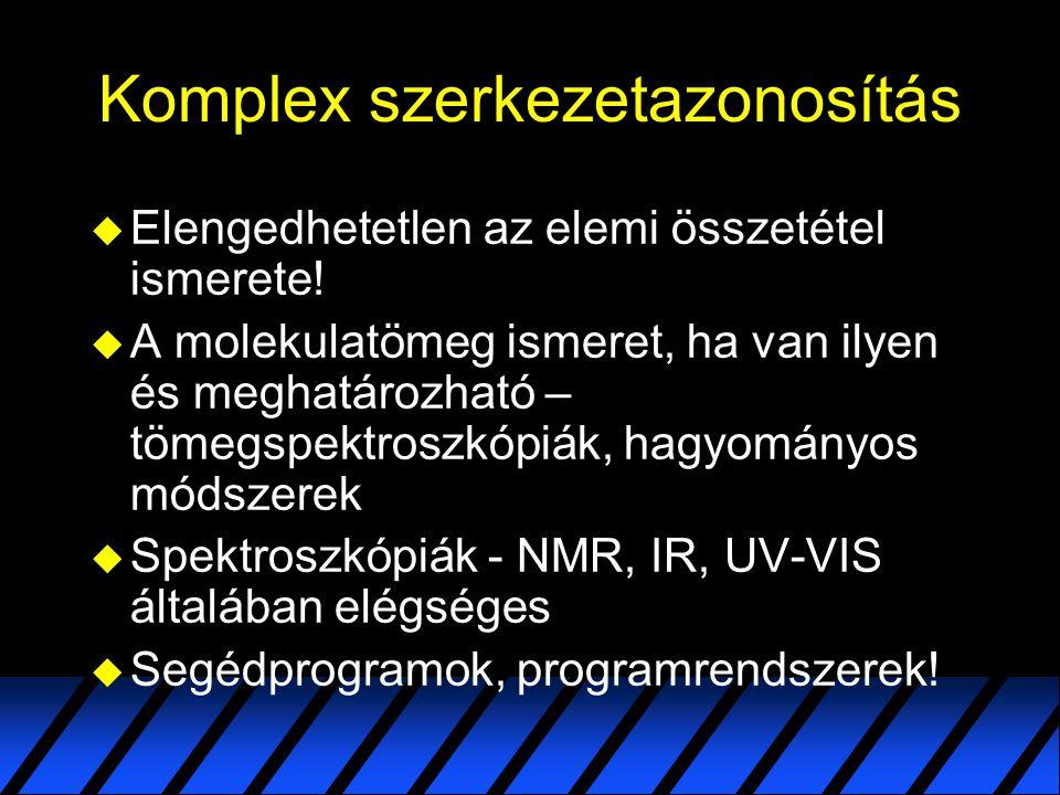 A hozzárendelést segítő eszközök  Ruff Ferenc, Szerves vegyületek szerkezetvizsgálata spektroszkópiai módszerekkel: Infravörös spektroszkópia, Tankönyvkiadó, Bp., 1992.