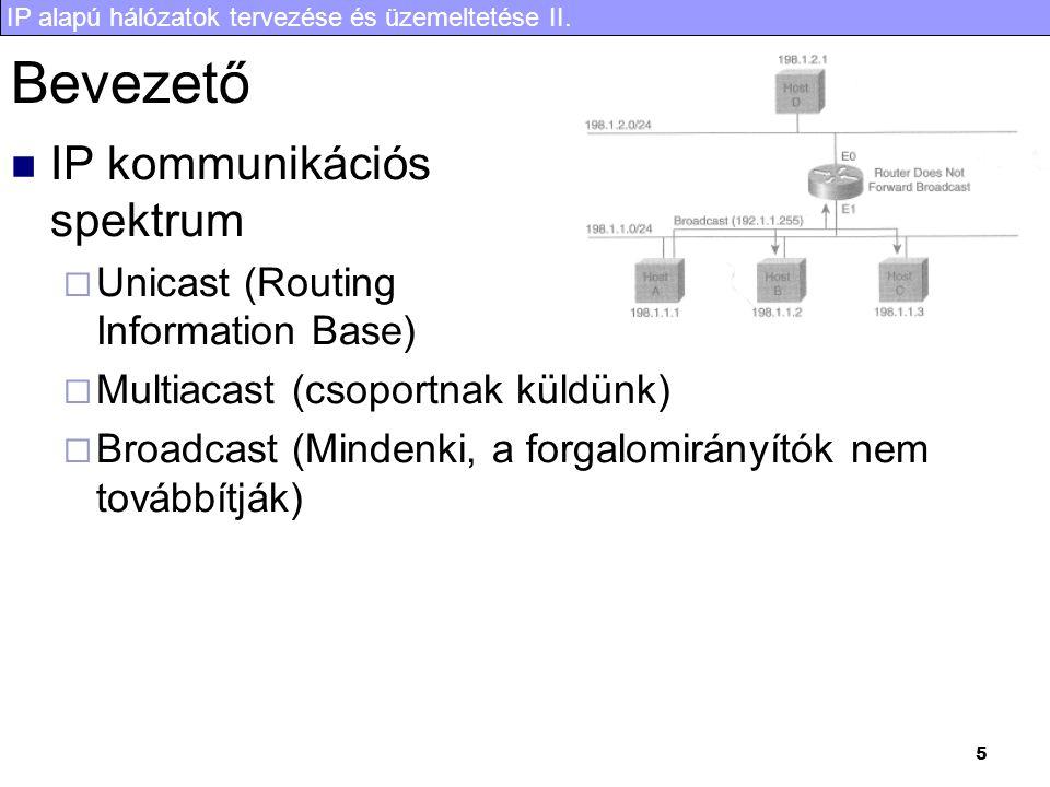 IP alapú hálózatok tervezése és üzemeltetése II. 26 Purne késleltetés, PIM assert