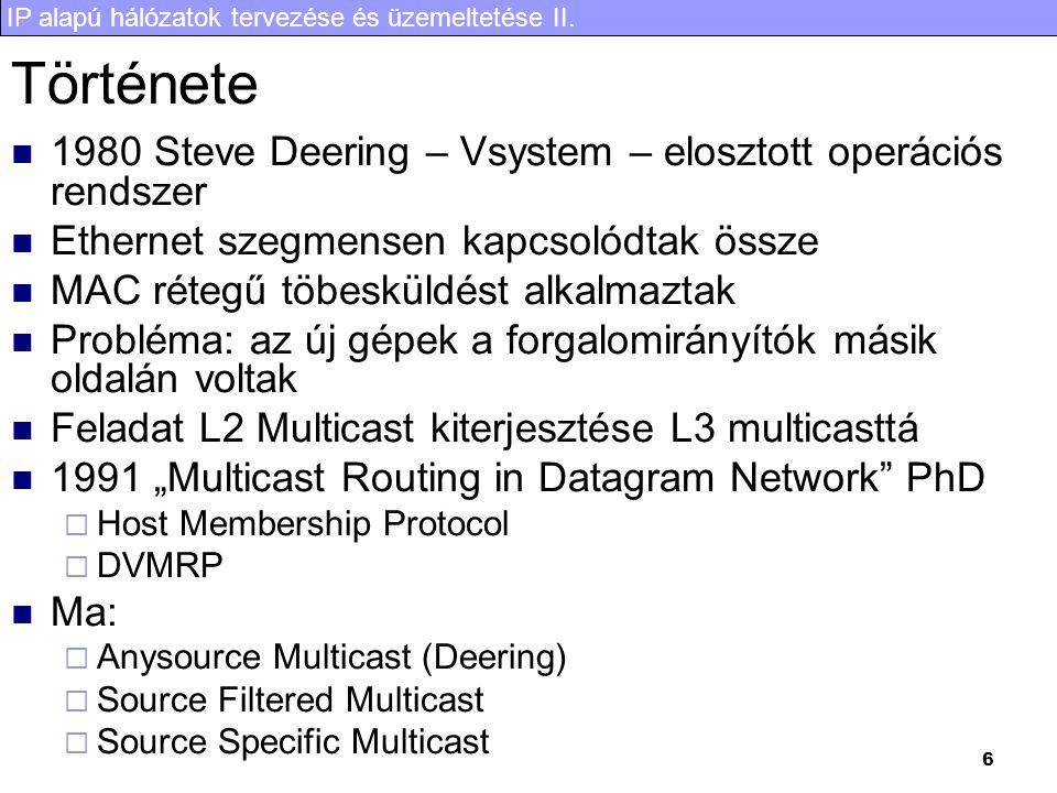 IP alapú hálózatok tervezése és üzemeltetése II. 37 Feszítőfák