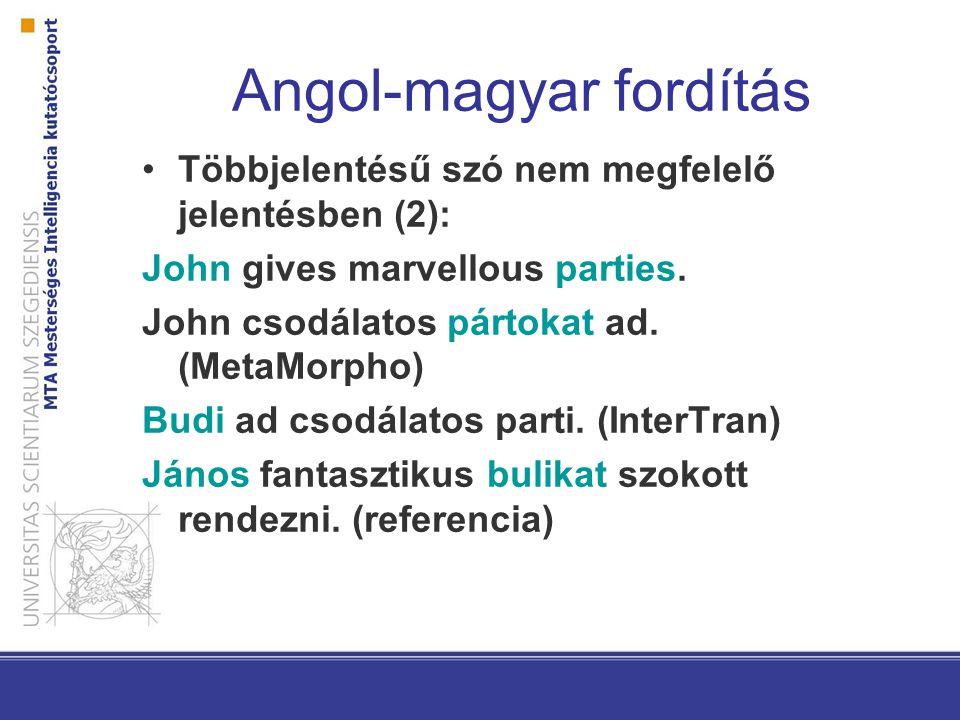 Angol-magyar fordítás Többjelentésű szó nem megfelelő jelentésben (3): When did you last fly a plane.