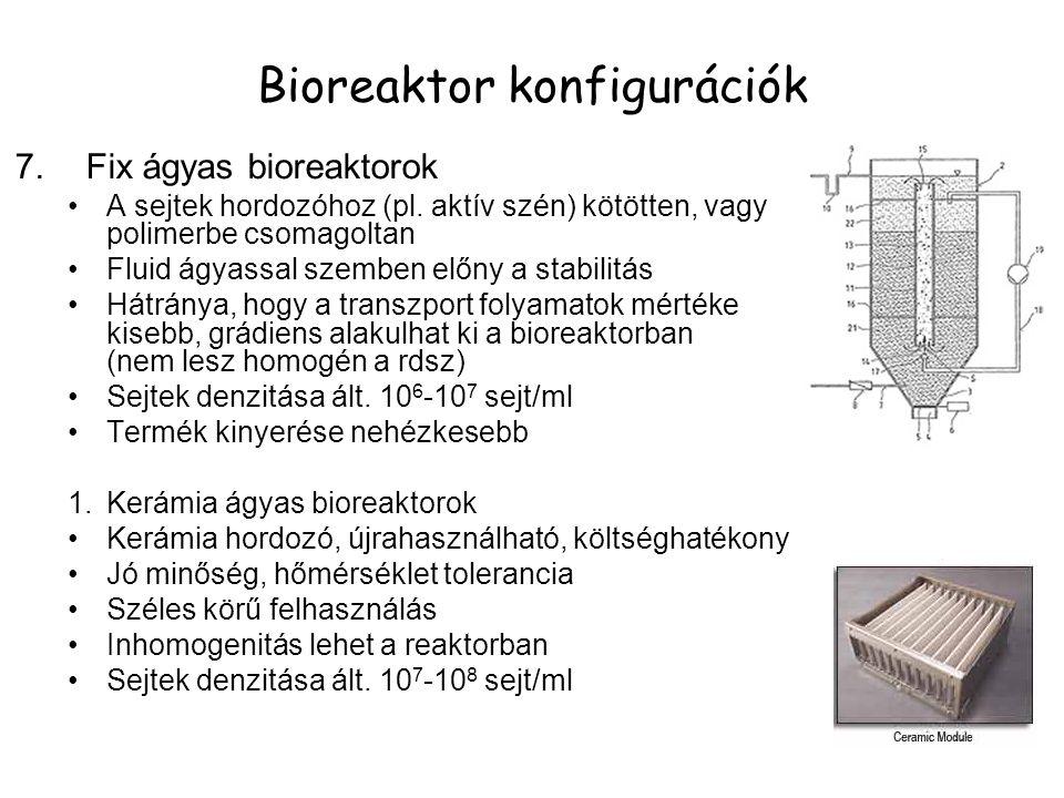 7.Fix ágyas bioreaktorok A sejtek hordozóhoz (pl.