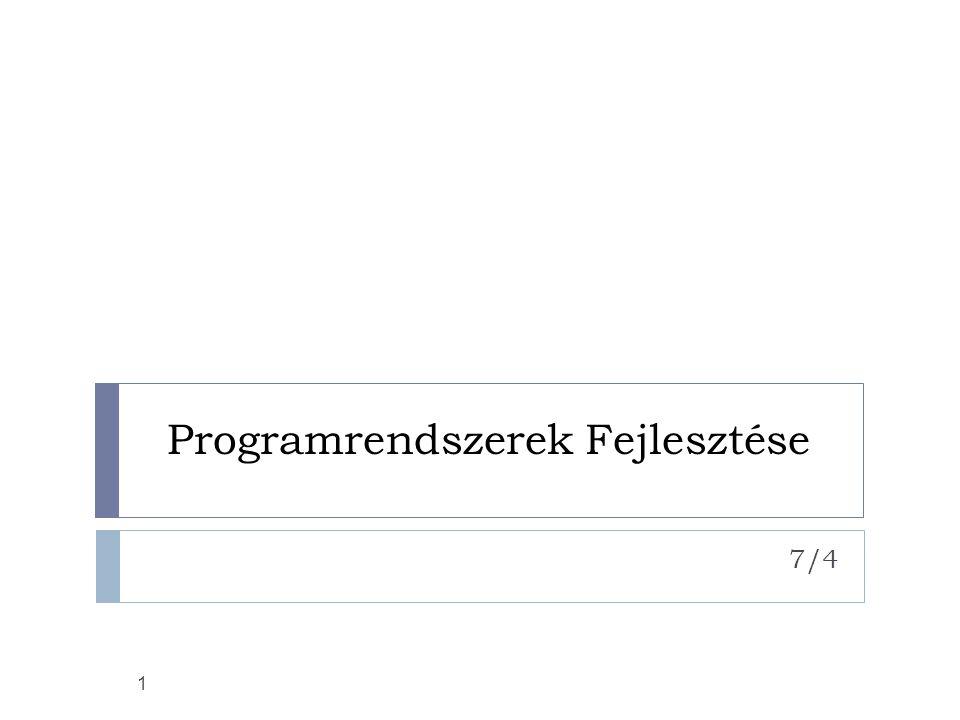 12 JDBC installálása  PostgreSQL  pgjdbc2.jar ->…\lib\ext  postmaster –i  pg_hba.conf  CLASSPATH  windows:  http://www.ejip.net/faq/postgresql_win_setup _faq.jsp