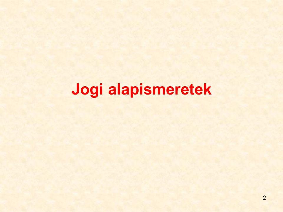 13 Tehát: a) belső vagy anyagi jogforrás Jogszabály alkotója, ma: Országgyűlés Kormány Miniszter Önkormányzati testület