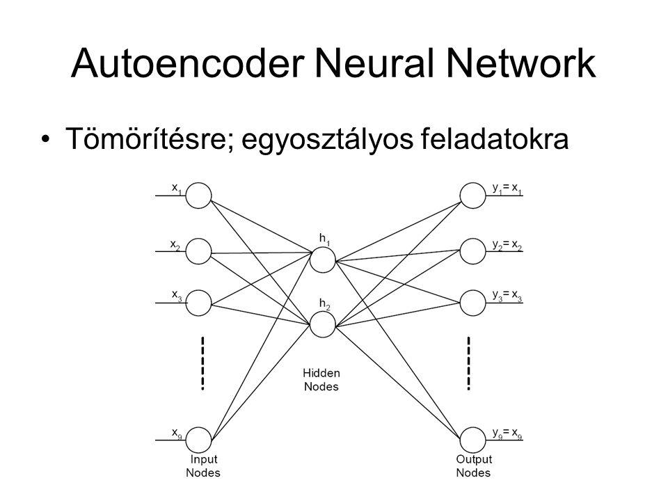 Autoencoder Neural Network Tömörítésre; egyosztályos feladatokra