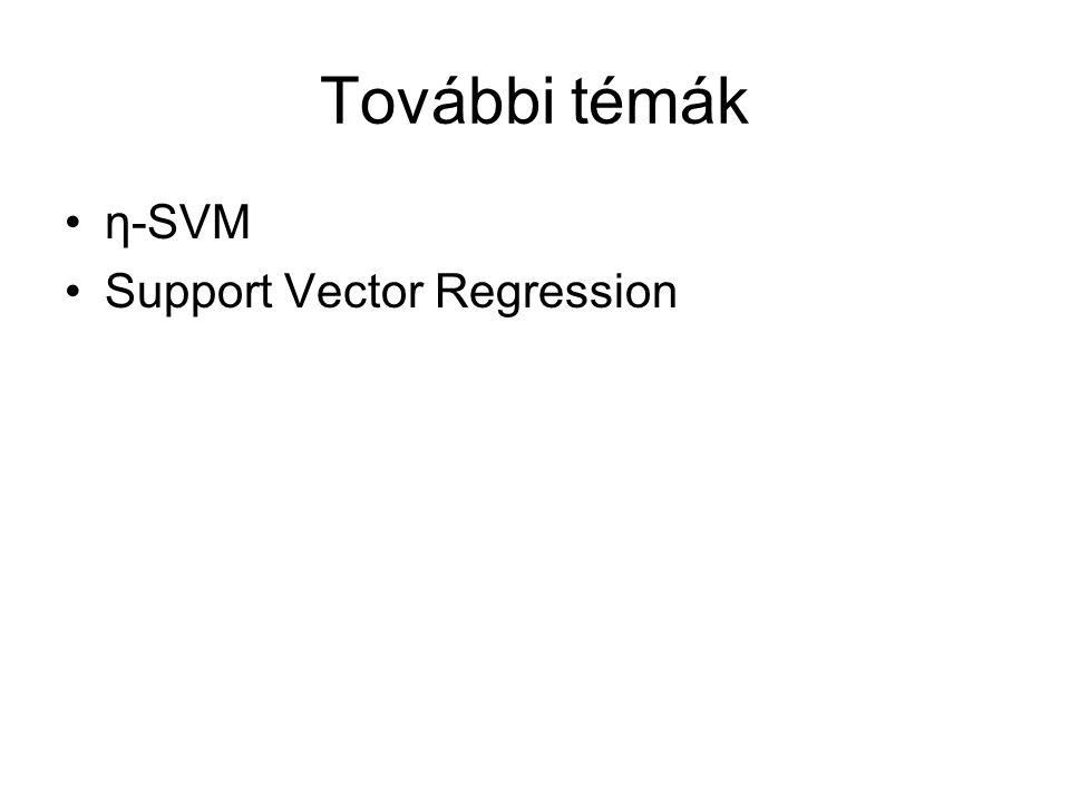 További témák η-SVM Support Vector Regression