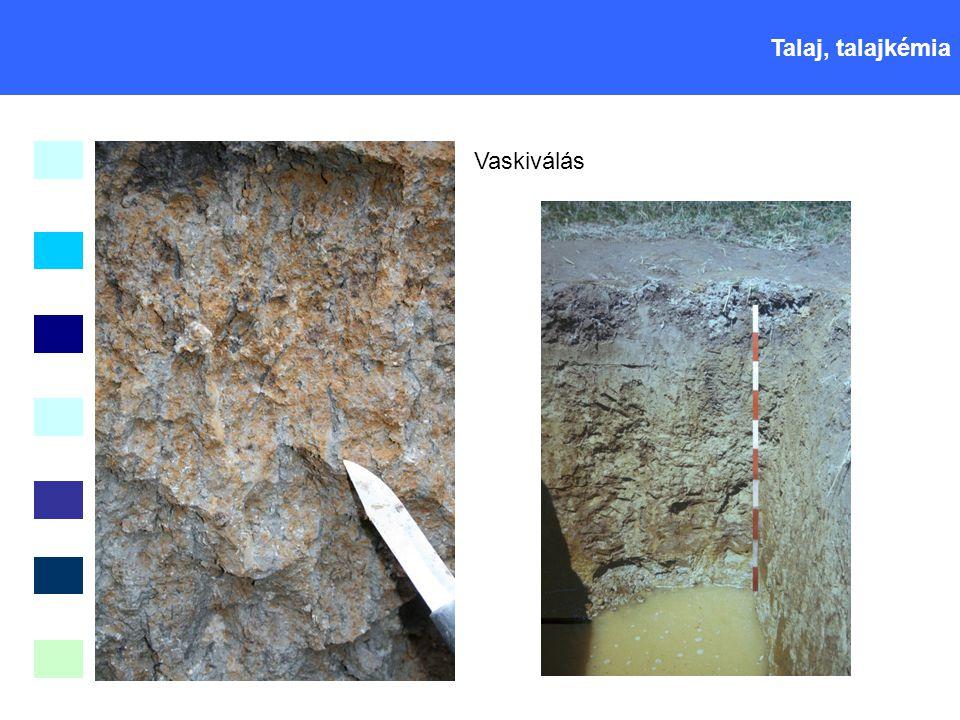 Talaj, talajkémia Vaskiválás