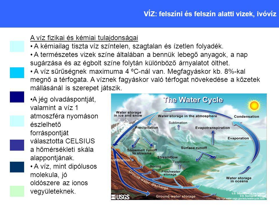 Csapadékvíz (eső, hó, jég): Gyakorlatilag ásványi anyag mentes.