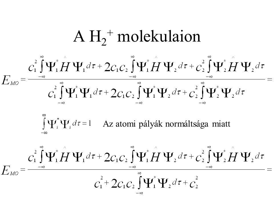 Az atomi pályák normáltsága miatt