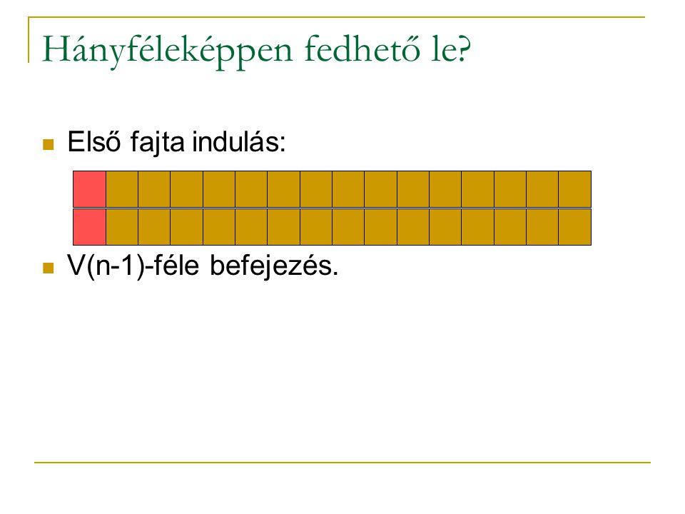 Hányféleképpen fedhető le? Első fajta indulás: V(n-1)-féle befejezés.
