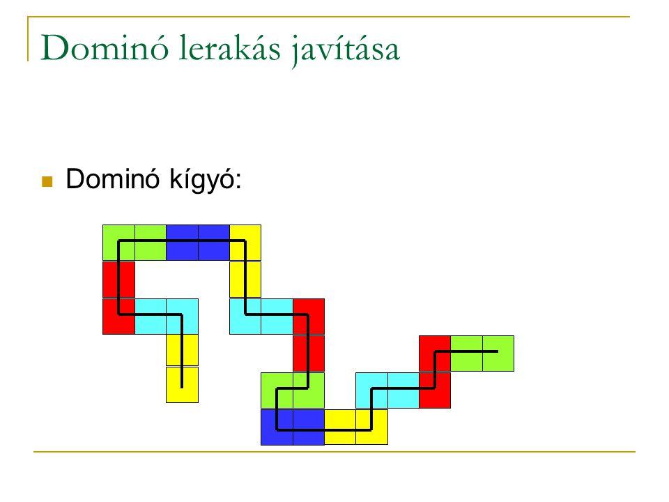 Dominó lerakás javítása Dominó kígyó: