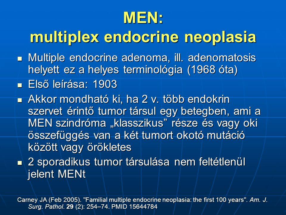 MEN: multiplex endocrine neoplasia Multiple endocrine adenoma, ill.