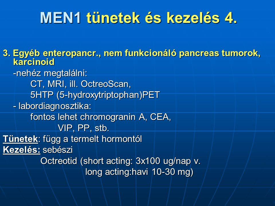 MEN1 tünetek és kezelés 4.3.