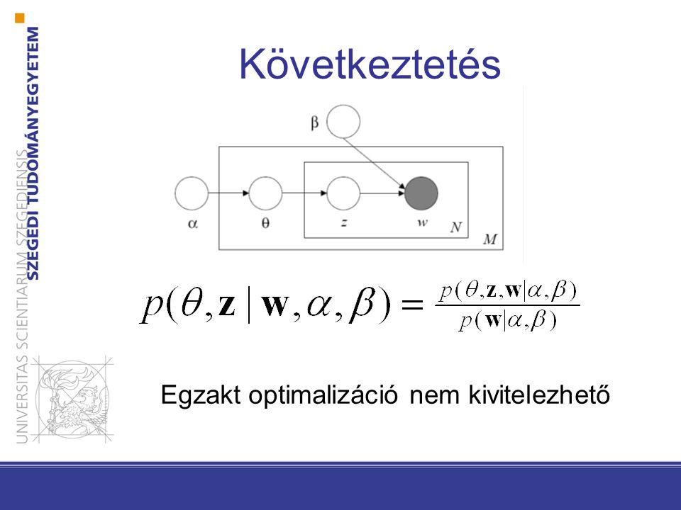 Következtetés Egzakt optimalizáció nem kivitelezhető