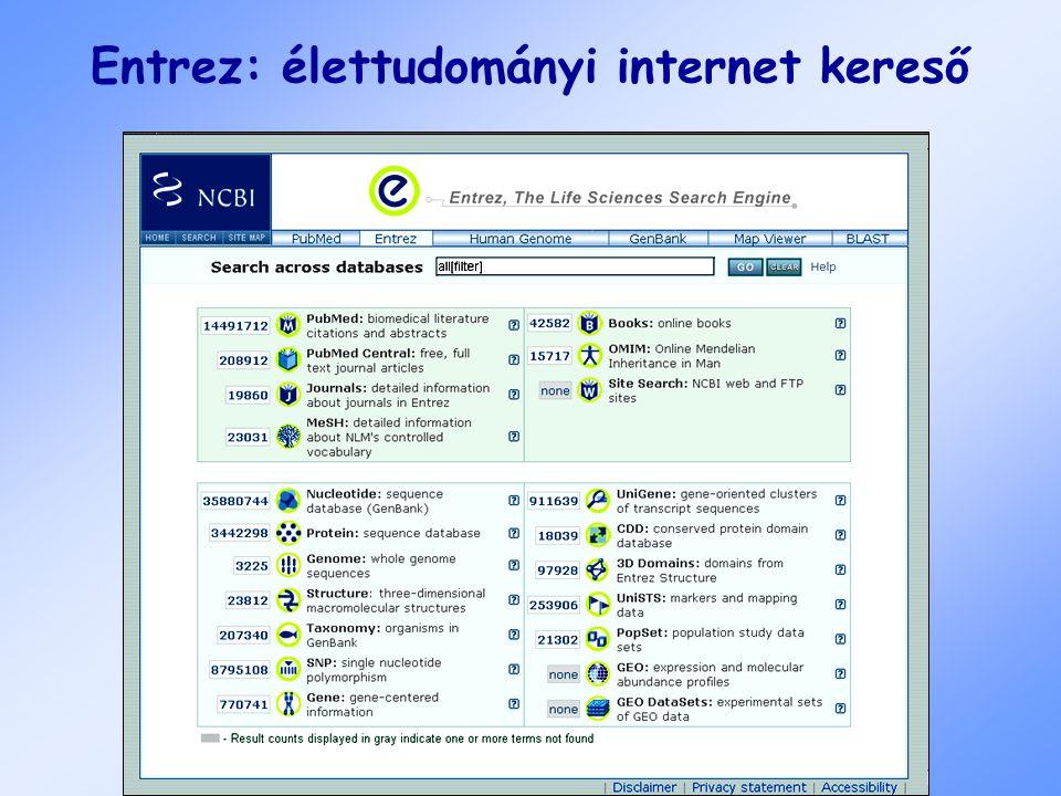 Entrez: élettudományi internet kereső