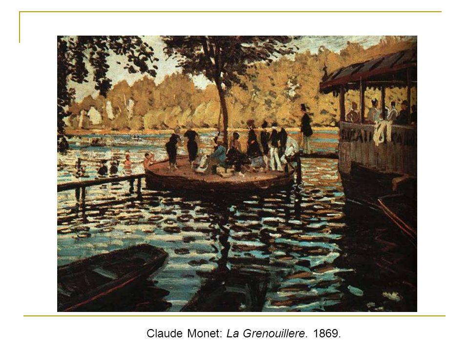 Claude Monet: La Grenouillere. 1869.